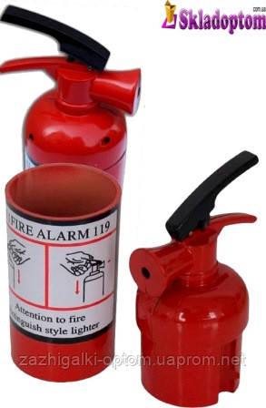 Зажигалка настольная огнетушитель + пепельница 2576