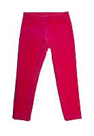 Велюровые лосины для девочек 1,5-5 лет, розовые, фото 1