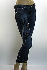 Жіночі джинси Philipp Plein з стразами і принтами, фото 2