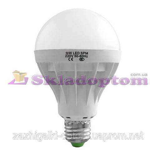 Лампа светодиодная G70 Е27 9W круглая 2 *