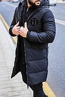 Зимнее пальто мужское на синтепоне и меху 1115 рус.