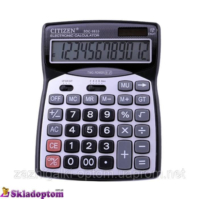 Калькулятор CITIZEN 9833, двойное питание**