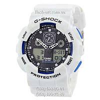 Мужские наручные часы Casio G-Shock Ga-100 White-Black