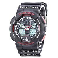 Мужские наручные часы Casio G-Shock GA-100 Black-Red