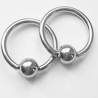 Кольцо сегметное для пирсинга, диаметр 14 мм, толщина 1.6 мм. Медицинская сталь.