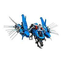 """Игрушка для детей - конструктор Ninjago Movie Lepin 06050 """"Самолёт-молния Джея"""""""