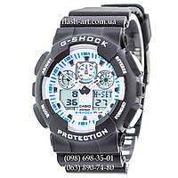 Мужские наручные часы Casio G-Shock Ga-100 Black-White Dial