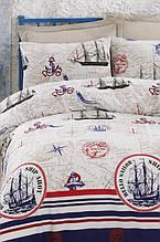 Постельное белье Eponj Home ранфорс Fairway красное полуторный размер