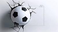 Светильник ночник Футбольный мяч 3D в стене - 3D football light