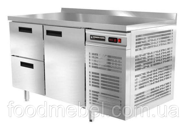 Холодильный стол с бортом Modern Expo NRABBB 1 дверь и 2 выдвижных ящика