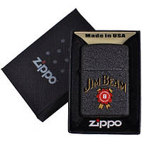 Зажигалка бензиновая Zippo в подарочной упаковке 4735-1 (Jim Beam)