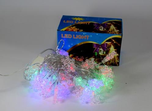 Новогодняя светодиодная  40P B4 многоцветная - снежинка