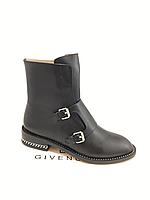 Стильные черные кожаные ботинки Givenchy 38