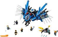 """Качественный конструктор для детей Ninjago Movie Lepin 06050 """"Самолёт-молния Джея"""""""