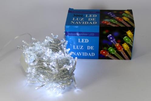 Светодиодная новогодняя гирлянда LED 300 W ( 300 светодиодов ) Цвет белый