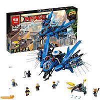 """Оригинальный детский конструктор типа LEGO Ninjago Movie Lepin 06050 """"Самолёт-молния Джея"""""""