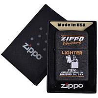 Зажигалка бензиновая Zippo в подарочной упаковке 4738-2