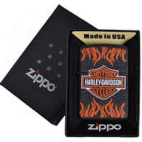 Зажигалка бензиновая Zippo в подарочной упаковке 4739-1 (HARLEY-DAVIDSON)