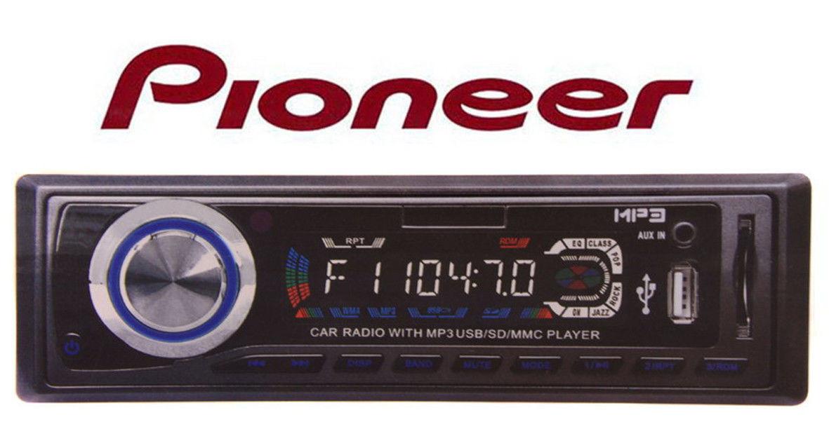 Автомагнитола pioneer 2000 SD+Flash+USB, акустика в машину