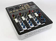 Аудио микшер Mixer BT-4000+ Bluetooth! 4 канала!