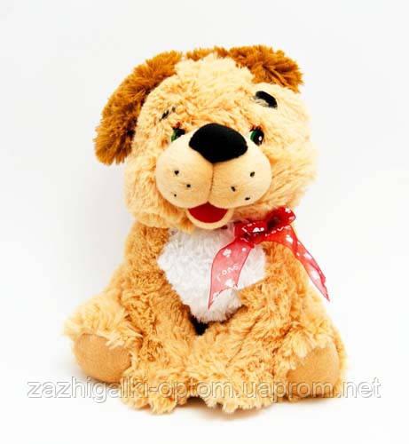 Мягкая игрушка Собачка с бантиком (23 см) №2134-25