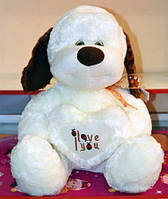 Мягкая игрушка (не набитая) Собака с сердцем 40см №2063-40