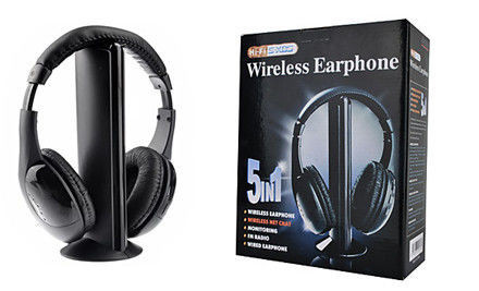 Беспроводные наушники с ФМ-приемником MH2001 5-in-1 Hi-Fi S-XBS Wireless Headphones w/FM