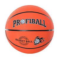 Мяч баскетбольный PROFIBALL VA-0001 (40шт) размер7,резина,8панелей,рисунок-печать,510г,