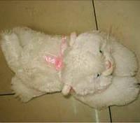 Мягкая игрушка Кот белый пушистый 3 (24см )