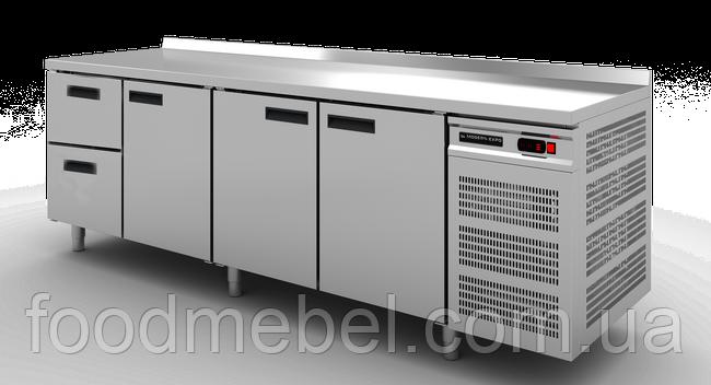 Стол холодильный с бортом Modern Expo NRADBB 3 двери + 2 выдвижных ящика