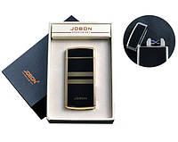 USB зажигалка JOBON 4780-1 (Электроимпульсная,две перекрестные молнии,индикатор заряда)