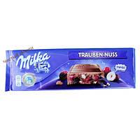 Milka молочный шоколад Trauben Nuss (300 гр) Австрия