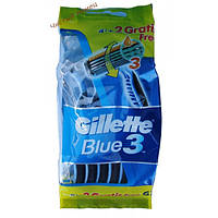 Gillette Blue 3 Набор одноразовых станков для бритья (6 шт) Колумбия
