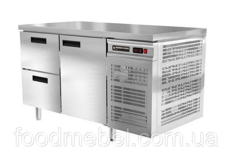 Холодильный стол без борта Modern Expo NRABBA 1 дверь и 2 выдвижных ящика