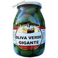 Оливки гигантские, зеленые Olive Verde Gigante 600 гр.Италия