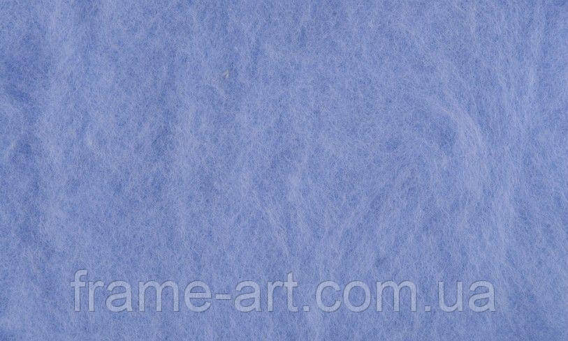 Шерсть для валяния Новозеландский кардочес К6008 синий светлый, 40г