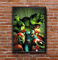 Постер с рамкой Marvel