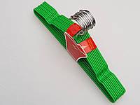 Плечики вешалки тремпеля металлический в силиконовом покрытии салатового цвета,длина 40 см, в упаковке 10 штук