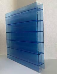 Сотовый поликарбонат 4 мм, синий