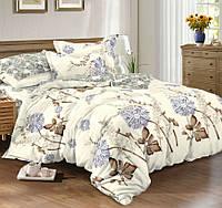 Двуспальное постельное белье с простыней на резинке 160*200*34, Либерти, Сатин 100% хлопок