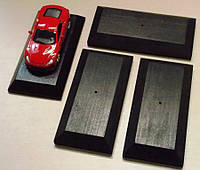 3 шт Подставка для моделей авто масштабом 1:43 Цвет Черный. Материал дерево, фото 1