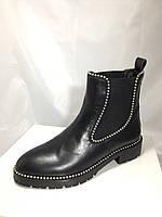 Крутые кожаные ботинки Alexander Wang