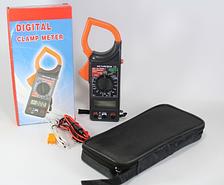 Клещи токовые-мультиметр DT-266С универсальные. Измерение тока