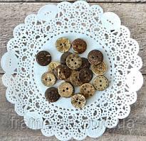 Декоративні гудзики 2,15 мм кокос, асорті