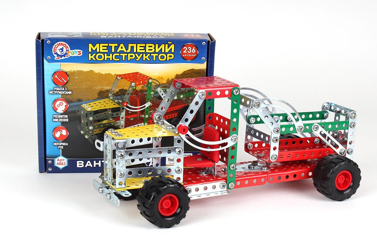 "Конструктор металлический 4883 ""Вантажівка"", 236 деталей (Y)"