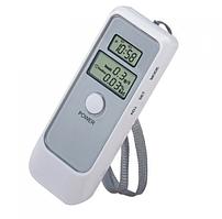 Карманный цифровой алкотестер с LCD и часами 6379