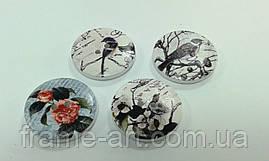 Розписна декоративна ґудзик на липучці 2,5 см DK311 7126