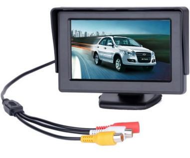 Автомобильный дисплей LCD 4.3'' для двух камер