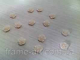 Розы акриловые 1см персиково-розовые