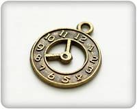 Металлическая подвеска Часы со стрелками 18*21мм SCB25011544/10